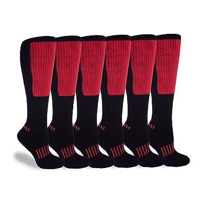 c9f35d865c0 MOXY Socks Black with Red The Deadlift Block Athletic Knee-High Exercise  Socks 6-Pack