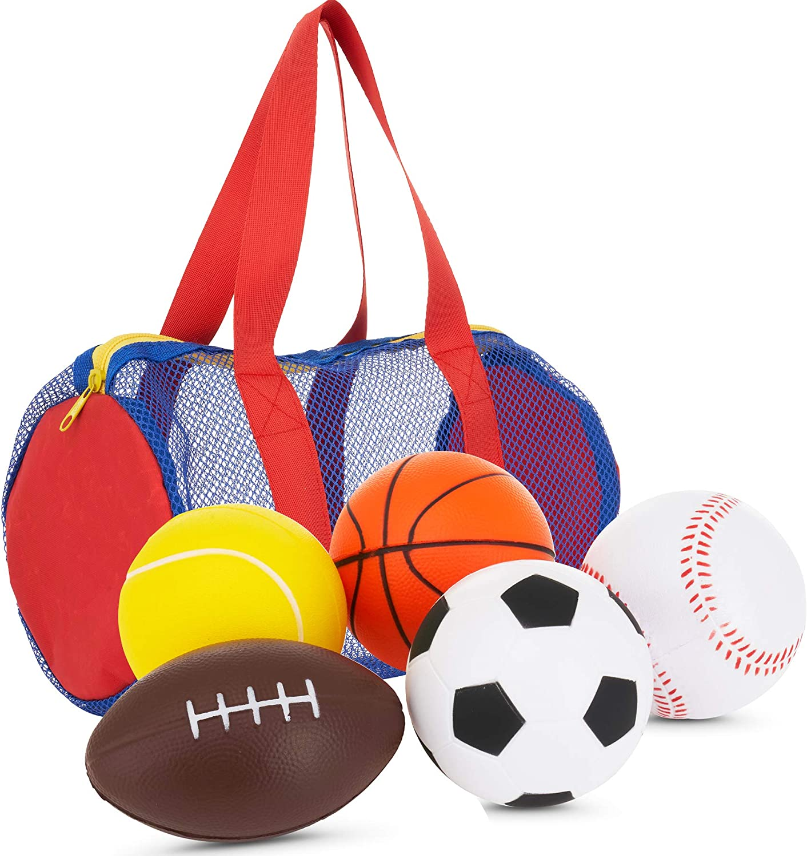 Soft Safety Kids 9# Sports Pelotas de b/éisbol de Goma Superior de PVC para Entrenamiento Blanco y Rojo