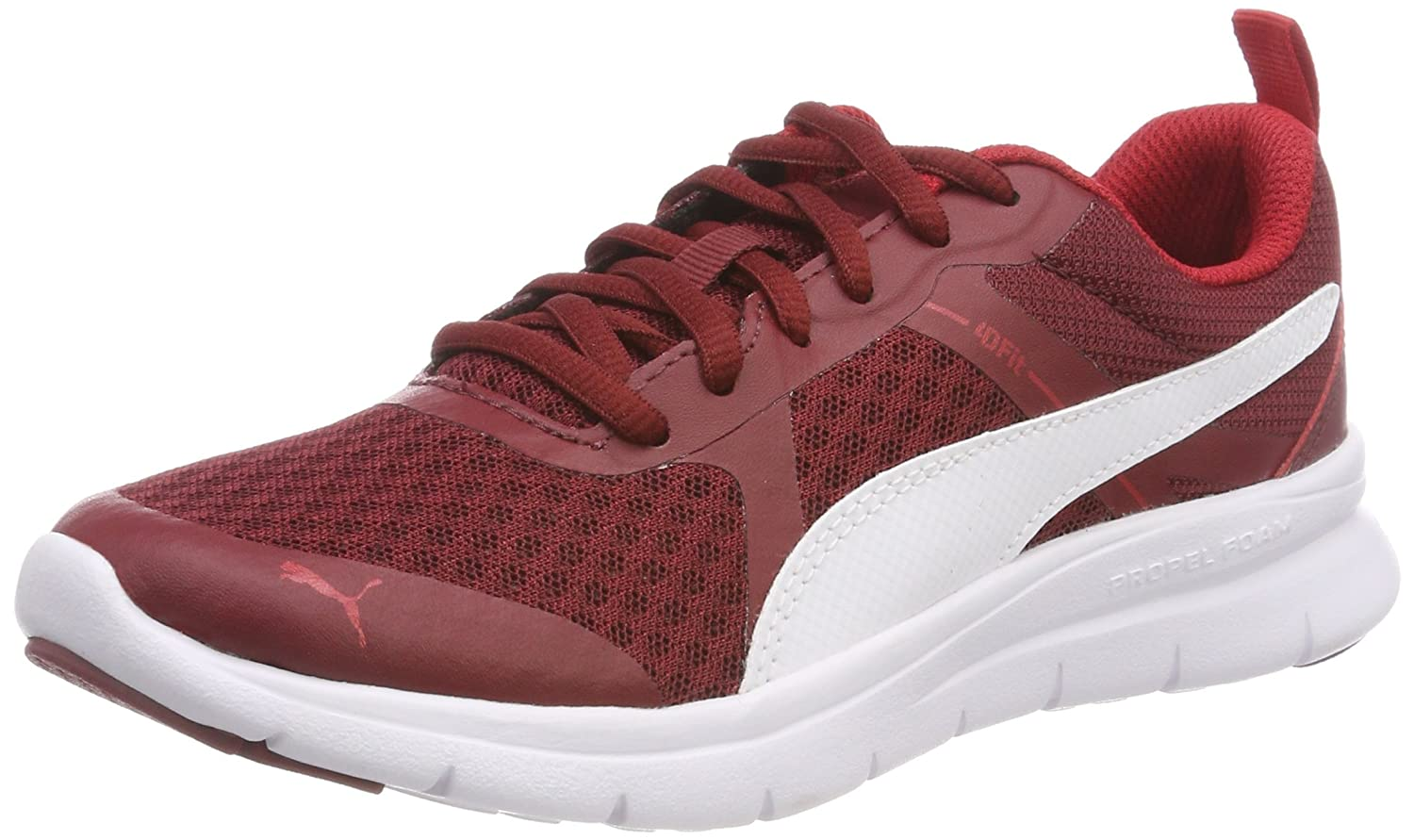 Puma Flex Essential, Zapatillas Unisex Adulto 46 EU|Rojo (Pomegranate-puma White 10)
