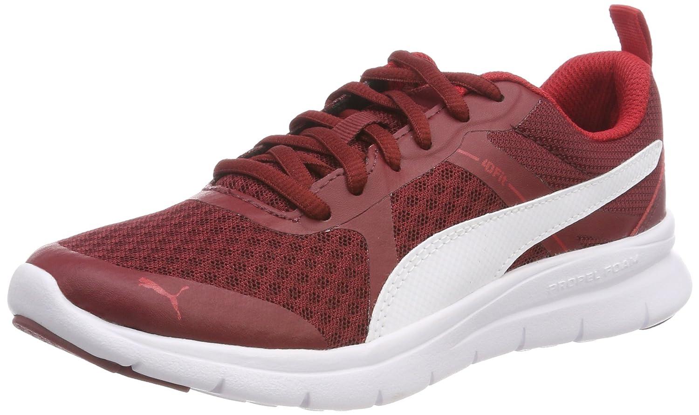 Puma Flex Essential, Zapatillas Unisex Adulto 45 EU|Rojo (Pomegranate-puma White 10)