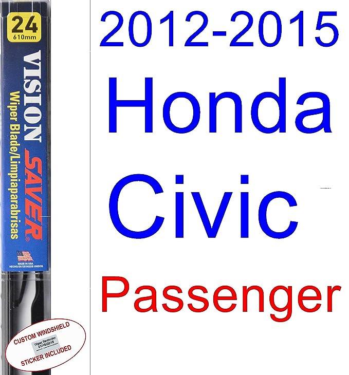 Amazon.com: 2012-2015 Honda Civic Coupe Wiper Blade (Passenger) (Saver Automotive Products-Vision Saver) (2013,2014): Automotive