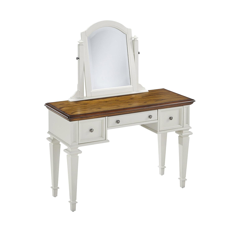Amazoncom americana home decor - Amazon Com Home Styles 5002 70 Americana Vanity And Mirror White And Distressed Oak Kitchen Dining