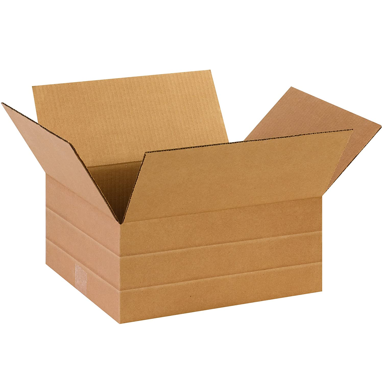 Pack of 75 Kraft BOX USA BMD1412675PK Multi-Depth Corrugated Boxes 14 L x 12 W x 6 H