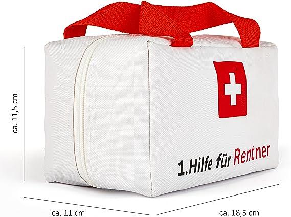 28x18x8cm gro/ß Lustiges Geschenk zum Ruhestand Abschied f/ür Kollegen Dakita 1 blau, ohne Inhalt Ideales Abschiedsgeschenk f/ür Rentner zum Renteneintritt Hilfe Tasche zur Rente