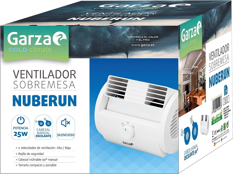 Garza Nuberun - Ventilador de Mesa Oscilante de Diseño Compacto ...