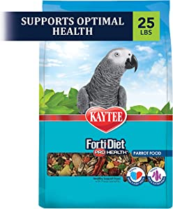 Kaytee Forti Diet Pro Health Bird Food For Parrots, 25-Pound