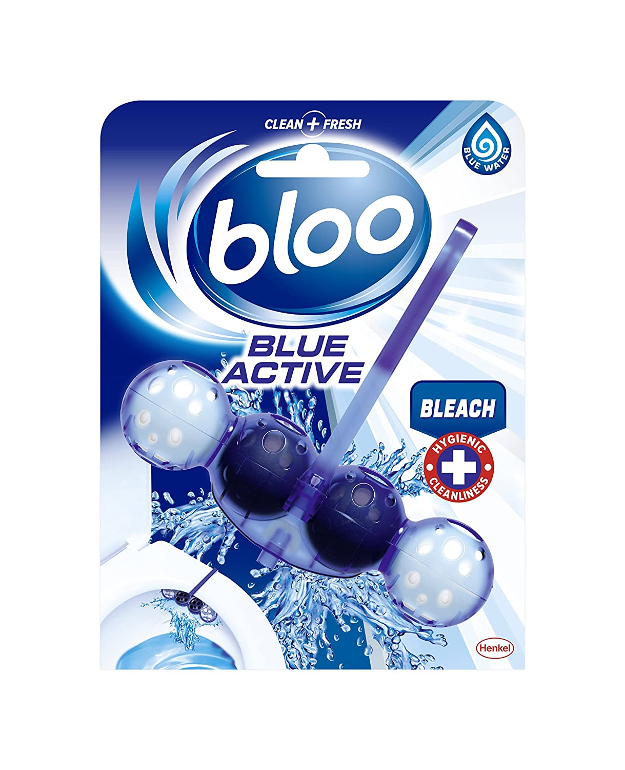 Bloo Blue Active Fresh Toilet Rim Block, 50 g, Flowers Henkel Ltd 2202348