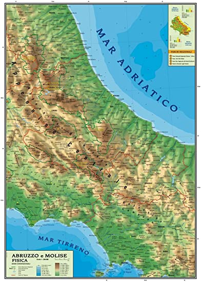 Regione Molise Cartina Fisica.Carta Geografica Murale Regionale Abruzzo Molise 100x140 Bifacciale Fisica E Politica Amazon It Cancelleria E Prodotti Per Ufficio