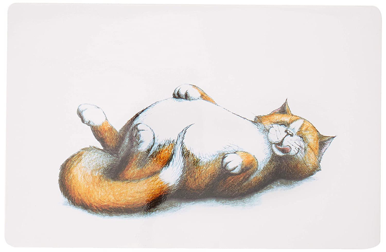 Salvamanteles para gatos TRIXIE Gato gordo 44x28 cm: Amazon.es: Ropa y accesorios