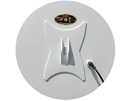 DETECH - Bobina Redonda para detectores de Metales de la Serie Minelab GPX, GP,
