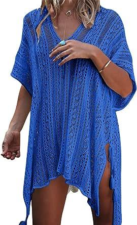EDOTON Traje de Baño, Vestido de baño de Bikini con Encaje de Crochet y Espalda Abierta de Mujer