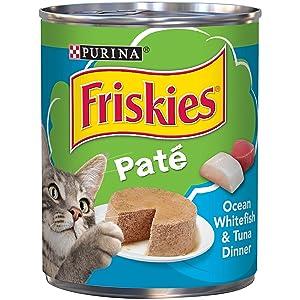 Friskies Cat Food Ocean White Fish & Tuna Dinner, 13 oz