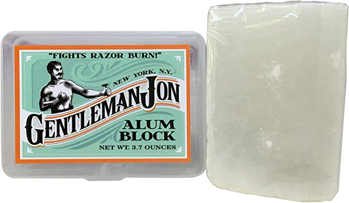 Gentleman Jon 3.7 Ounce Alum Block in Plastic Case
