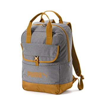 Puma Campus Woven Backpack, Unisex Adulto, Black/Buckthorn Brown, OSFA: Amazon.es: Deportes y aire libre
