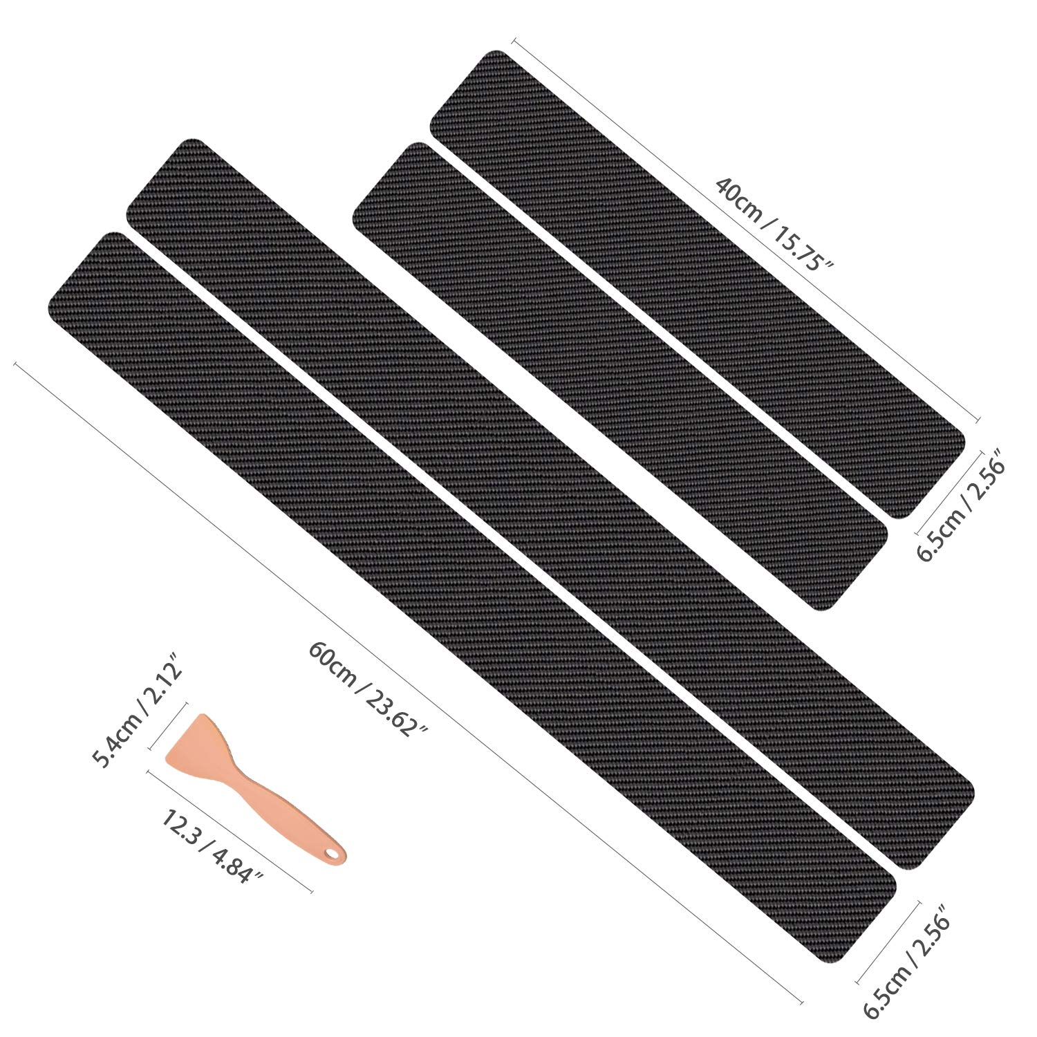 Wekon Car Door Sill Plate Sticker Universal Car Door Protection Scratch Resistant Protective Film Paint Protection Film Door Entrances Step Plate Anti Scratch Cover