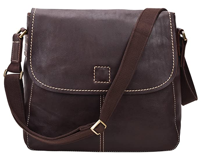 fc2fd2654f ALTOSY 15 Inch Genuine Leather Messenger Bag Satchel Bag for Office Work  College School Business 8069