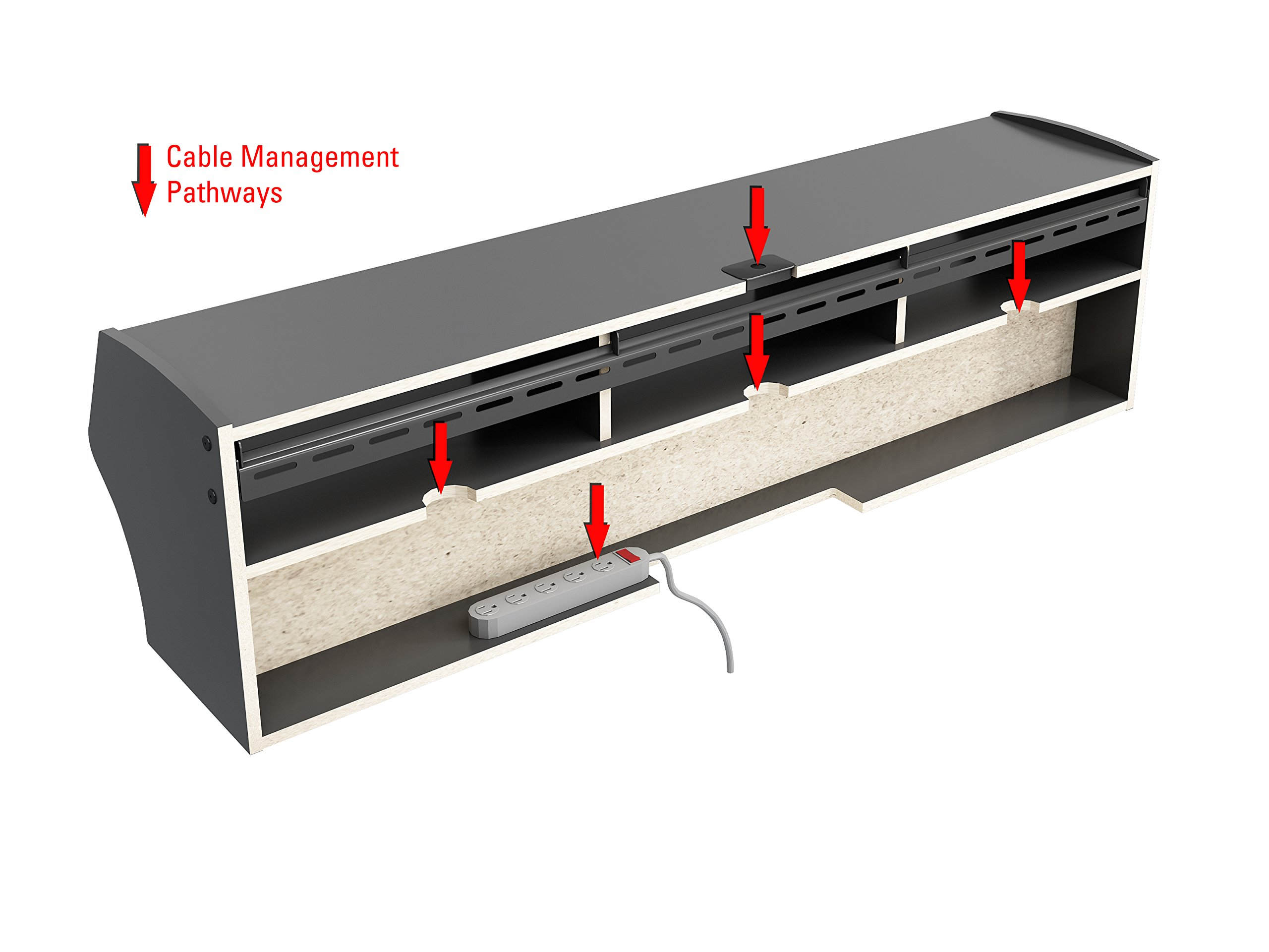 Black Altus Plus 58'' Floating TV Stand