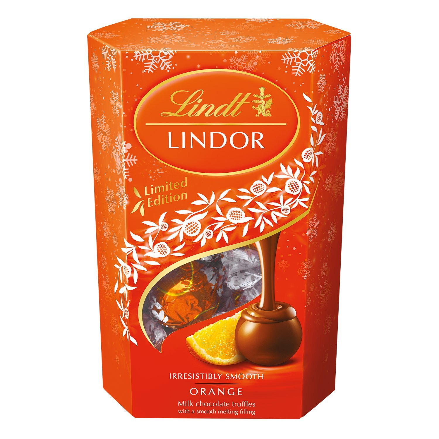 Lindt Lindor Orange Milk Chocolate Truffles 200G: Amazon.com ...