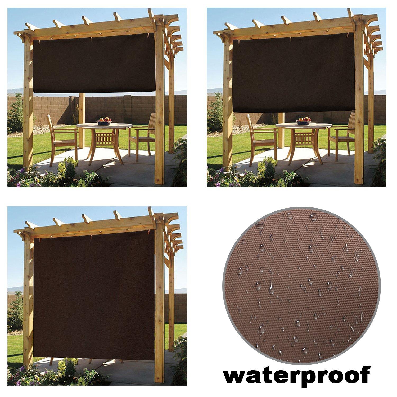 Easy2Hang Waterproof adjustable Shade Panel 6x8ft Coffee by Easy2Hang