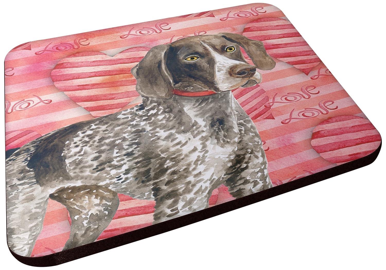 Carolines Treasures BB9728FC German Shorthaired Pointer Love Decorative coasters Multicolor