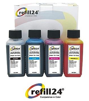 Kit de Recarga para Cartuchos de Tinta Epson Serie 29 / 29XL + 400 ml Tinta para impresoras Expression Home XP 235,332, 335,432, ...