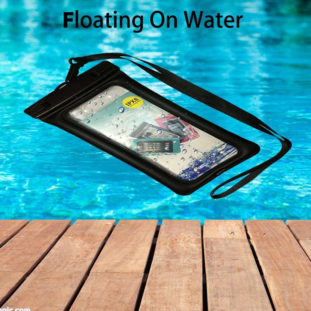 Hiking Boating Water Parks Clighting Fingerprint Unlock Waterproof Phone Case Floating Pouch Tpu Dry Bag Universal For Iphone Samsung Htc Lg Sony Cell Phone Up To 7 0 Kayaking Rafting Beach Cell Phones
