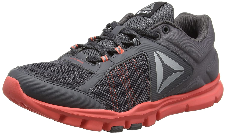 Reebok Women's Yourflex Trainette 9.0 MT Cross-Trainer Shoe B01NCP1AKY 8 B(M) US|Ash Grey/Fire Coral/White/Silver Met/Grey/Black