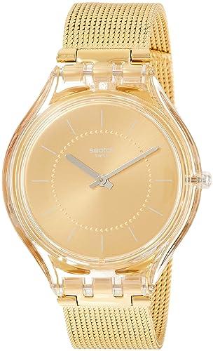 Swatch Reloj Analógico para Mujer de Cuarzo con Correa en Acero Inoxidable SVOK100M: Amazon.es: Relojes