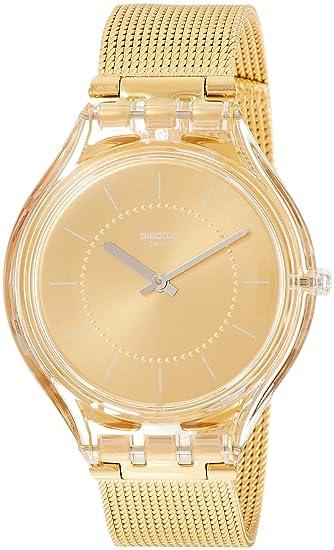 Swatch Reloj Analógico para Mujer de Cuarzo con Correa en Acero Inoxidable SVOK100M