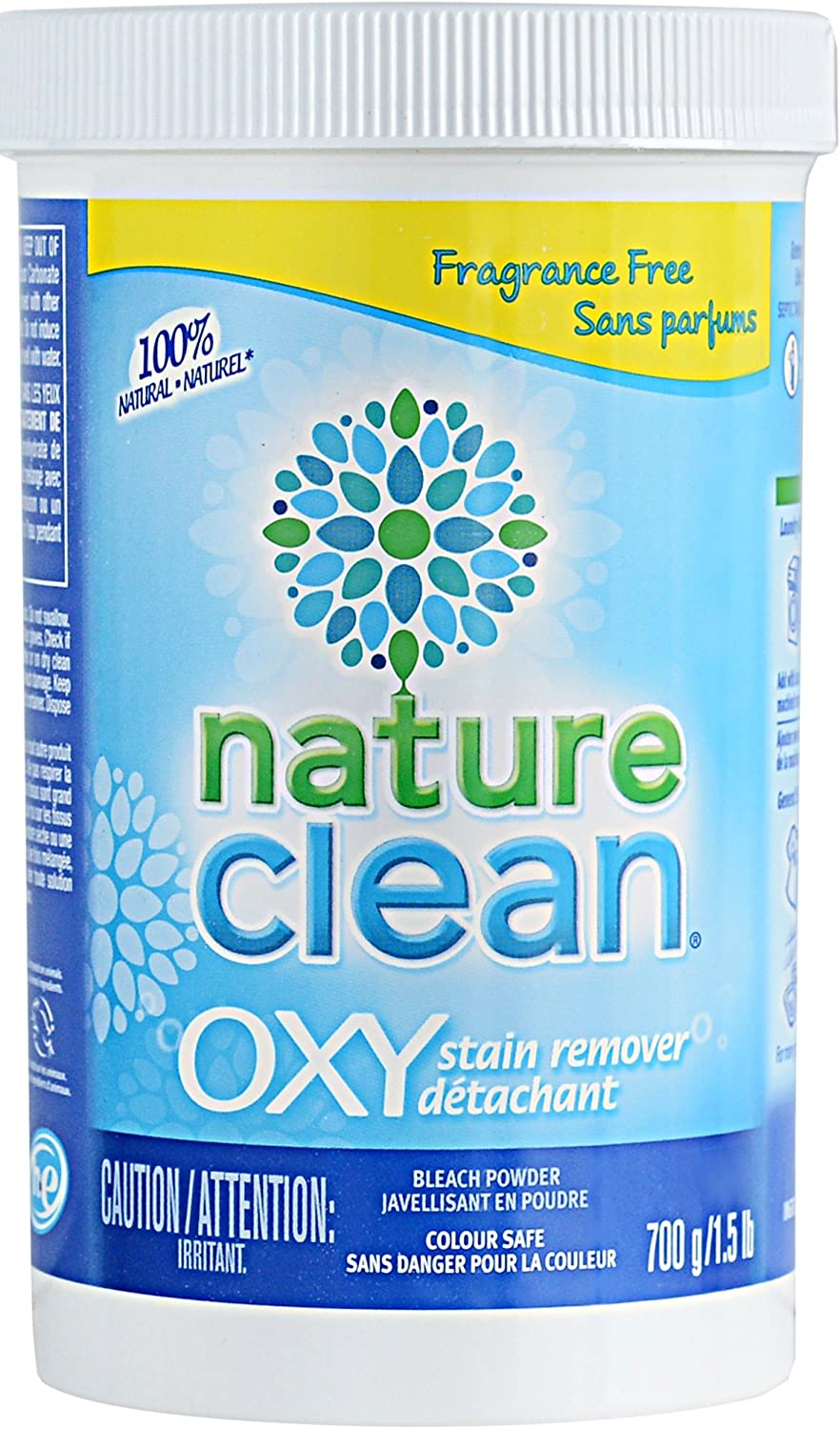 Nature Clean Oxy Stain Remover Powder, Chlorine-Free, Naturally Derived, Fragrance-Free, 24.69 Oz