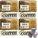 Fresh Roasted Coffee LLC, Kenya AA Coffee Pods, Single Origin, Medium Dark Roast, Capsules Compatible with 1.0 & 2.0 Single-Serve Brewers, 72 Count
