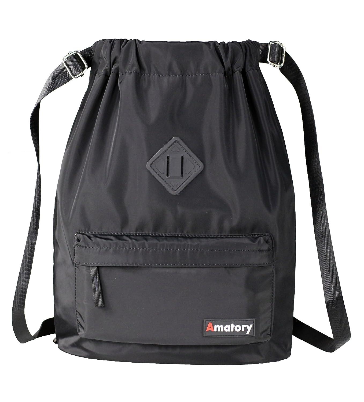 4b06fdfbae64 Drawstring Backpack String Bag Sports Waterproof Sackpack Gymsack ...