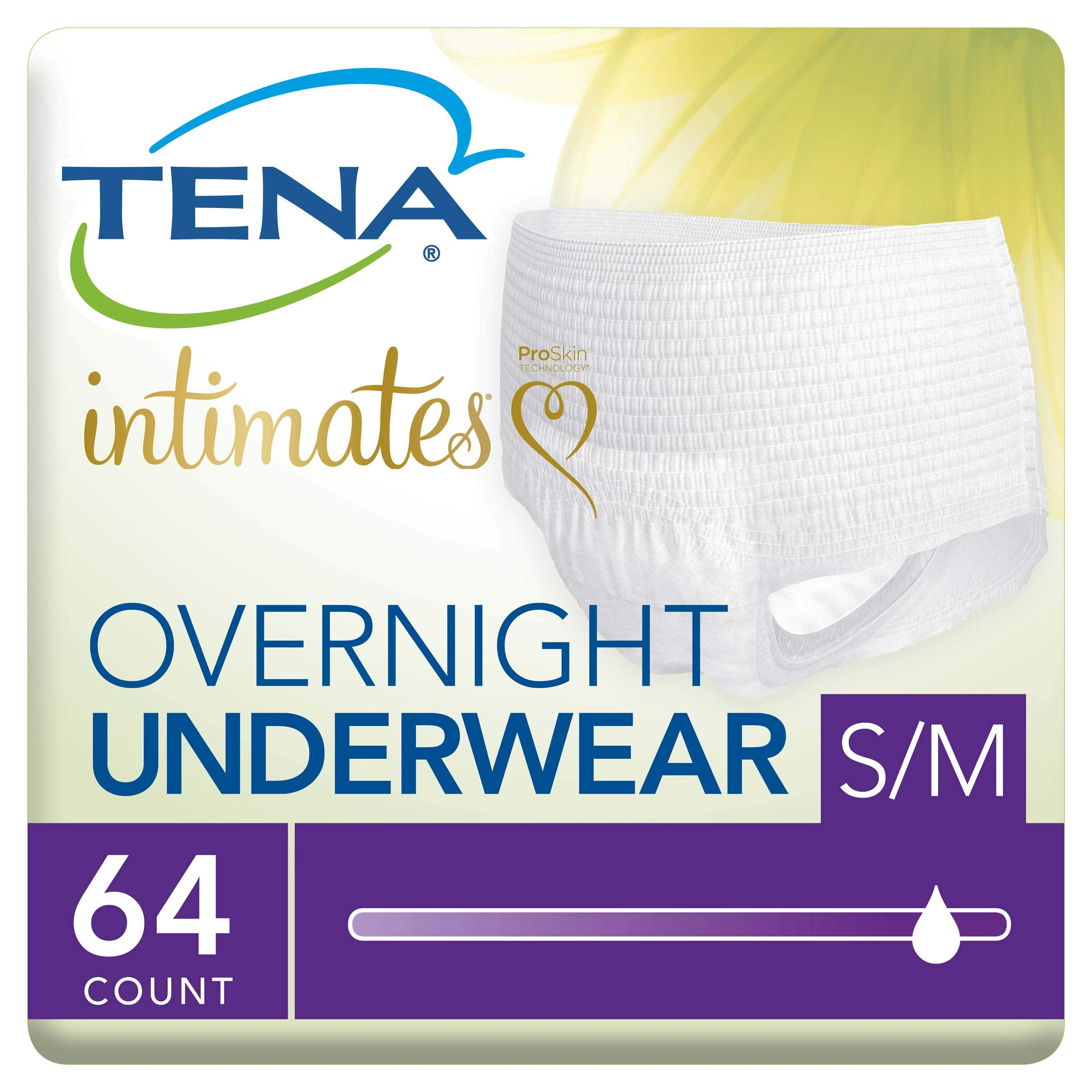 Tena Incontinence Underwear for Women, for Overnight, Medium, 64 Count by TENA