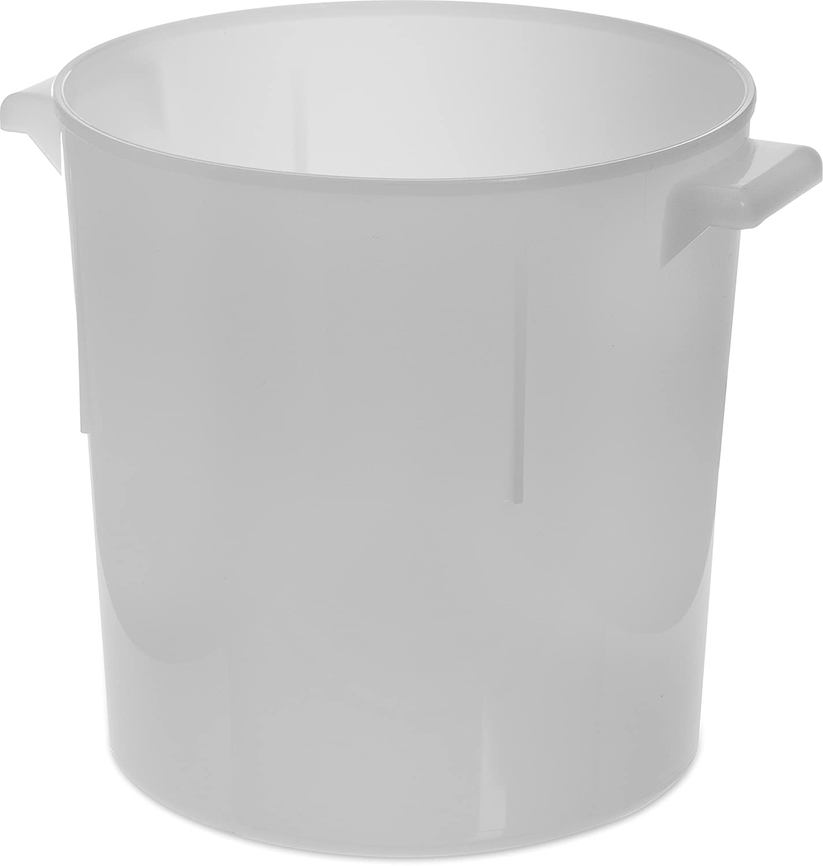 Carlisle 060002 BPA-Free Bains Marie Round Storage Container, 6 Quart, White