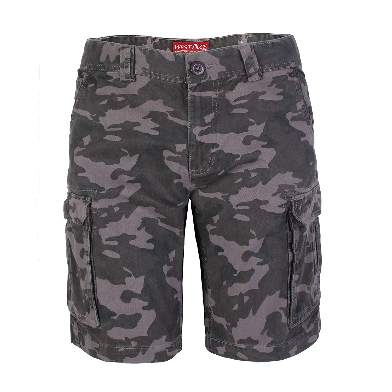 6044e1118466 westAce Herren Armee Cargo Shorts 100% Baumwolle Camouflage Combat Bermuda  Kurz Hose  Amazon.de  Bekleidung