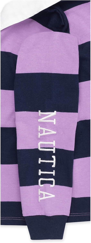Nautica Girls Long Sleeve Stripe Polo