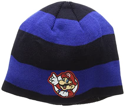 acdcfa9866e NINTENDO Super Mario Bros. Striped Mario Badge Beanie