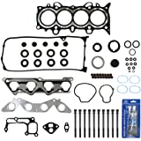 "TS2623600HBSI New Cylinder Head Gasket Set, Head Bolts Kit, & RTV Hi-Temp Gasket Sealant for 01-05 Honda 1.7L 1700CC L4 SOHC (16-Valve) Eng. Code ""D17A1"""