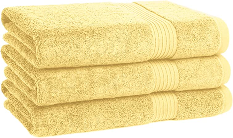 3 PIECE SET 700 GSM ROYAL EGYPTIAN PLUSH COTTON TERRY BATH TOWEL BATHROOM SHEET
