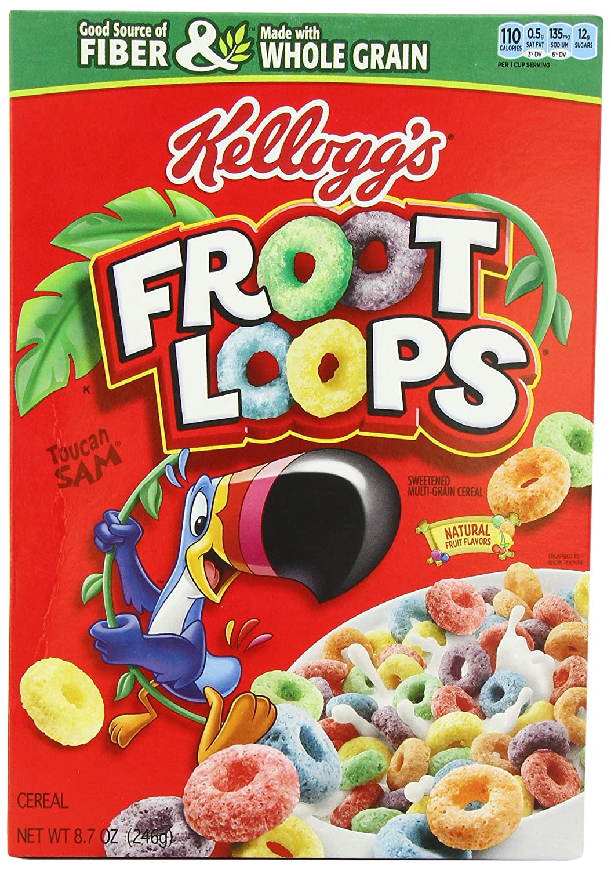 Amazon Kelloggs Froot Loops 246g