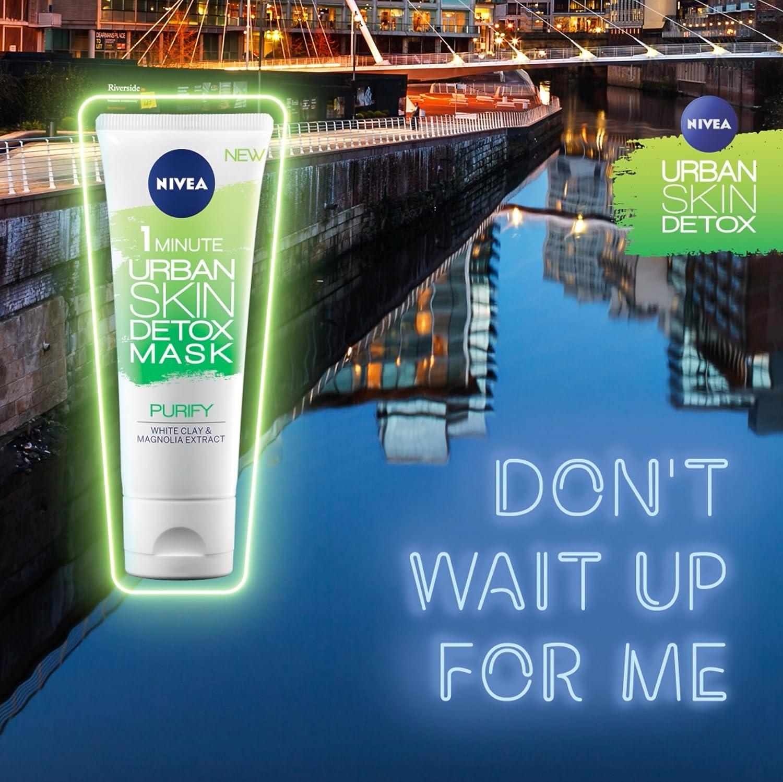 NIVEA Urban Detox 1 minuto máscara + purificador, 75 ml, paquete ...