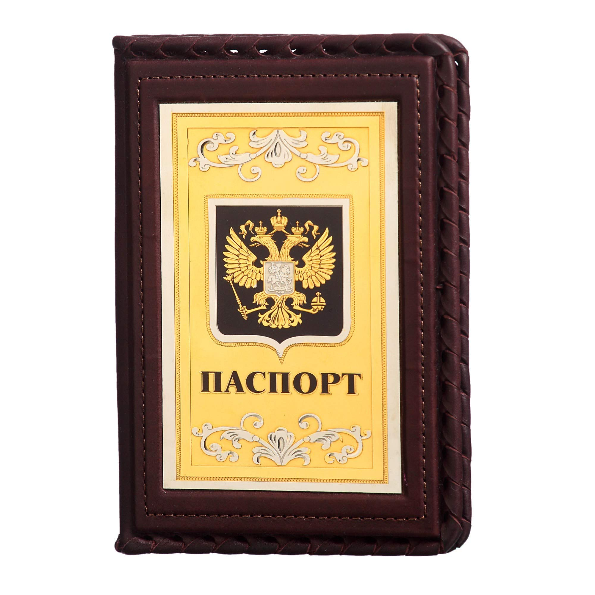 Passport Cover Handmade Leather''Russia Gold-Domed''