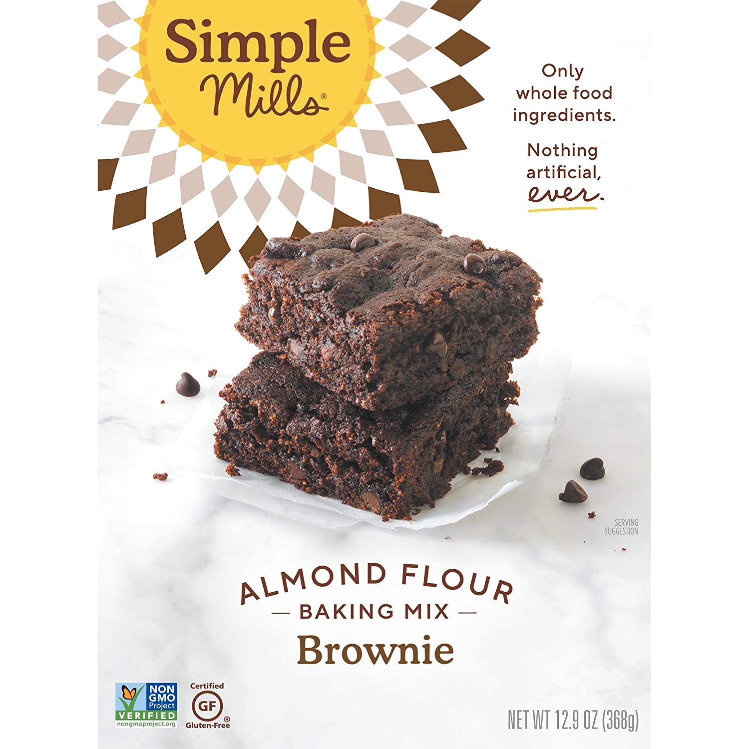 Amazon.com : Simple Mills Almond Flour Baking Mix, Gluten Free Brownie Mix,  Easy to make in Brownie Pan, Chocolate Flavor, Made with whole foods, 6  Count (Packaging May Vary) : Grocery &