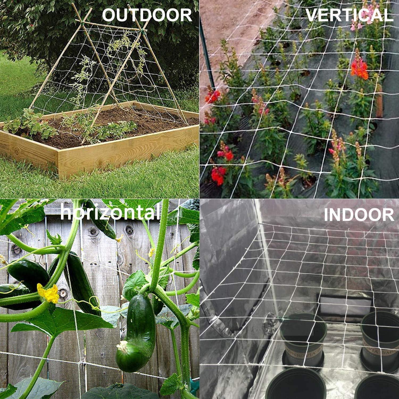 Grape Racks Hydroponic 5 x 350 ft Heavy-Duty Garden Netting for Climbing Plants,Garden Melons Vegetables Toolazy Soft Mesh Nylon Trellis Netting Bulk Roll