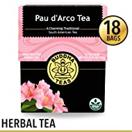 Organic Pau d'Arco Tea, 18 Bleach-Free Tea Bags – Organic Antifungal, Antiparasitic Tea, Works as an Effective Immune Booster, and Promotes Detoxification, No GMOs