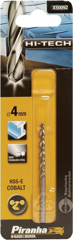 Broca HSS-E aleaci/ón de acero con 5/% de Cobalto Black+Decker X50077-QZ /ø 2,5 mm.