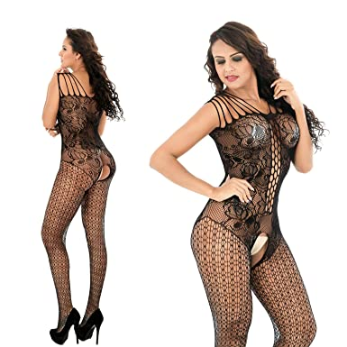 9b8009bc4 Women Full Body Crotchless Fishnet Bodysuit Bodystocking Net Sheer Lingerie  Stocking Tight Pantyhose  Amazon.co.uk  Clothing