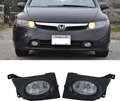 For 2008 2009 2010 Honda Accord 4D Clear Bumper Fog lights Pair w//Switch+Harness