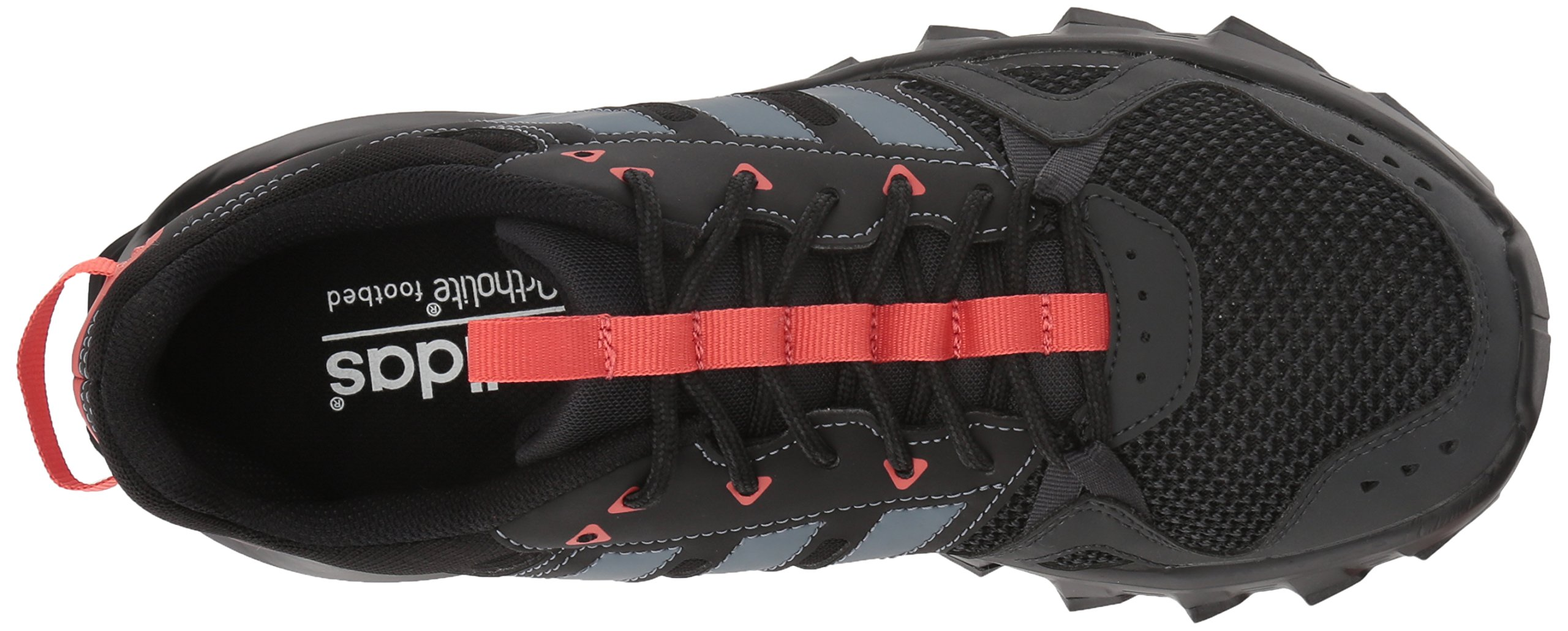 adidas Women's Rockadia w Trail Running Shoe, Carbon/Raw Steel/Trace Scarlet, 6 M US by adidas (Image #8)