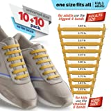 DIAGONAL ONE No Tie Shoelaces for Kids and Adults - Elastic Silicone Shoe Laces to Replace Your Shoe Strings - Slip On Tieless Flat Silicon Sneakers Laces
